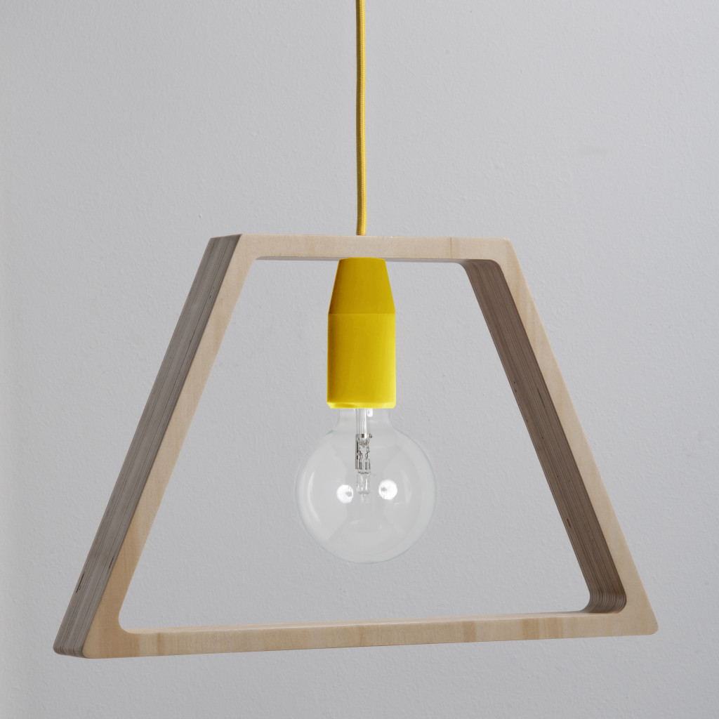Sospensione legno cavo giallo - still life